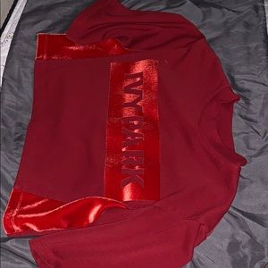 Ivy park red crop top never worn